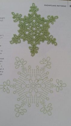 Snowflake 30 – Snowflakes World Crochet Snowflake Pattern, Crochet Stars, Crochet Motifs, Christmas Crochet Patterns, Crochet Snowflakes, Crochet Diagram, Christmas Knitting, Thread Crochet, Crochet Crafts