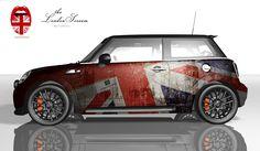 MINI Foiling - The London Scream - Seitenansicht - mini - Motorrad Mini Clubman, Mini Cooper Paceman, Mini Countryman, Mini Cooper Custom, Mini Cooper S, Mini 14, Scream, John Cooper Works, Union Jack