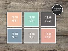 6 Sticker 'Yeah Post' für Briefe und Päckchen