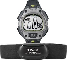 Timex Mens T5K719 Ironman Road Trainer Digital HRM Flex Tech Chest Strap  FullSize BlackGrayLime Green Watch >>> You can find out more details at the link of the image.(It is Amazon affiliate link) #likesreturned