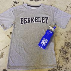 Stay hydrated this summer with our California golden bears water bottle while wearing this men's athletic Berkeley tshirt in grey!  Available in store and online at https://www.bearbasics.com  #cal #bearbasics #blueandgold #calso #style #sportswear #menswear #goldenbears #collegesports #ucberkeley #calsports