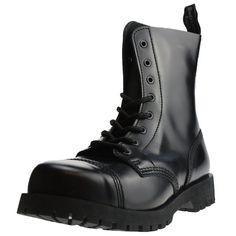 Boots & Braces - 8 Loch Schwarz Größe 43 (UK9)