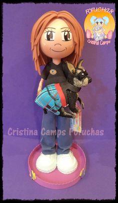 Cristina Camps Fofuchas: Fofucha con perro 2