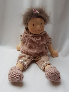 """""""Little miss mischief""""… Doll Clothes Patterns, Doll Patterns, Clothing Patterns, Waldorf Dolls, Soft Dolls, Baby Girl Dresses, Diy Doll, Little Miss, Baby Dolls"""