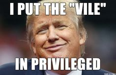 "Trump is Vile and Privileged. He also took the ""ass"" out of compassion, being the only thing he recognized about compassion."