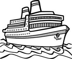 Cruise Ship clip art - vector clip art online, royalty free ...