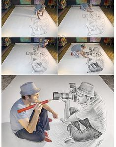 Ben Heine AMAZING really inspired me to learn about illusions and drawings 3d Drawings, Amazing Drawings, Pencil Drawings, Amazing Sketches, Amazing Artwork, Realistic Drawings, Ben Heine, Creation Art, Drawn Art