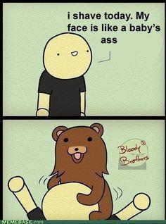 internet memes - Pedobear on Your Face.