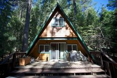 Tiny Cabin In California, Camouflaged In The Woods