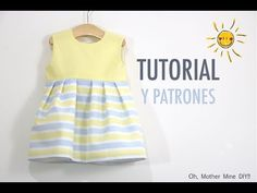 Sewing: Girl dress (free patterns size up to 8 years) - DIY Baby Clothes: How to make baby girl dress very easy (pattern in various sizes included) – You - Sewing Baby Clothes, Cute Baby Clothes, Baby Sewing, Diy Clothes, Baby Outfits, Kids Outfits, Baby Dress Patterns, Sewing Patterns For Kids, Dress Anak