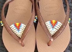 A personal favorite from my Etsy shop https://www.etsy.com/il-en/listing/266814353/sale-multi-colored-beaded-flip-flops