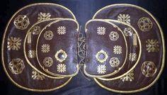 A matched set of aori (saddle flaps)  and hadazuke (saddle pads).