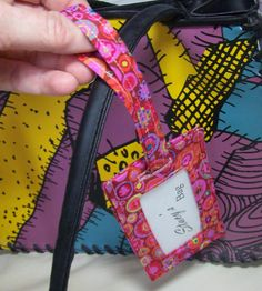 "Make an easy luggage tag with this free tutorial. Not a ""wallet"" per se, but a great free tut just the same!"