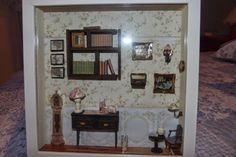 Escena de Biblioteca/Despacho en miniatura