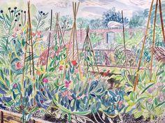Emily Sutton.Sweet Pea Frames, Helmsley Walled Garden'
