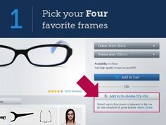 glasses.com in-home try on!