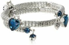 BETSEY JOHNSON Wear It Where Crystal Heart Coil Bracelet $38.95