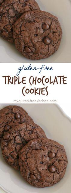 Gluten-free Triple Chocolate Cookies Recipe