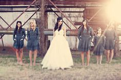 If i was doing my wedding here, and in the country i would use something like these bridesmaids dresses cute.