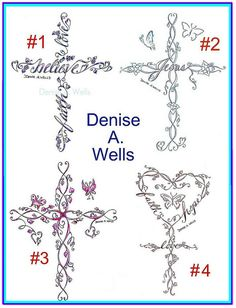 Cross tattoo designs by Denise A. Wells by ♥Denise A. Wells♥, via Flickr