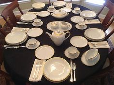 Rosenthal KPM Krister Germany 40 Piece Set for Six White Gold Crown R 106 | eBay