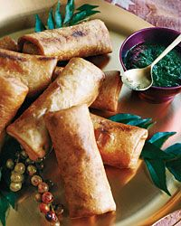 Crispy Turkey Kathi Rolls with Mint-and-Date Dipping Sauce Recipe from Food & Wine  http://www.foodandwine.com/recipes/crispy-turkey-kathi-rolls-with-mint-and-date-dipping-sauce    Zinfandels often have a juicy richness that pairs well here