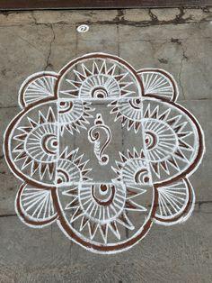Diya Rangoli, Padi Kolam, Rangoli Designs Images, Creative
