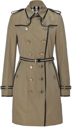 Burberry Trench Coat - Camel trimmed with black - classic and timeless style!