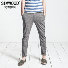 Men's Cotton-Linen Beach Pants | simple | Pinterest | Mens beach ...