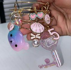 Cute Jewelry, Charm Jewelry, Beaded Jewelry, Jewelry Accessories, Arm Candy Bracelets, Bangle Bracelets With Charms, Travel Jewelry, Luxury Jewelry, Babygirl Necklace