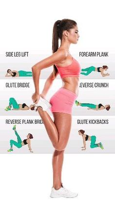 This weight loss workout plan consists of a day-by-day guide to help you lose weight & get fit. The exercise plan is for beginners. Fitness Workouts, Fitness Motivation, Sport Fitness, Butt Workout, Fitness Diet, Yoga Fitness, At Home Workouts, Health Fitness, Workout Routines