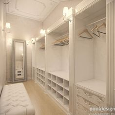 Perfect closet built-ins!