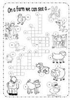 Resultado de imagen para crossword farm animals