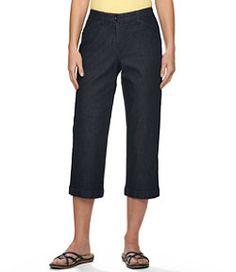 #LLBean: Easy Stretch Pants, Cropped Denim