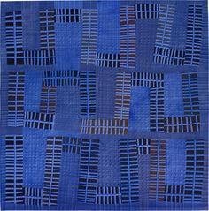 Color Improvisations 2 quilt by Nancy Crow ([exhibit photo]) 2016.