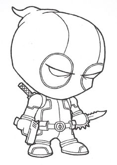 deadpool coloring pages. At a good time  I will give you lot of pictures on coloring pages Namely Deadpool Coloring Pages for children can develop their Free Printable For Kids
