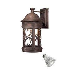 16 Inch Outdoor Wall Light With 9 Watt LED PAR20 Bulb