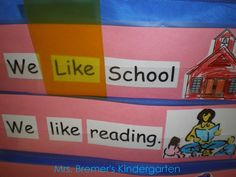 Sight words recognition &  DIY highlighting cards for the pocket chart {by Anita Bremer}