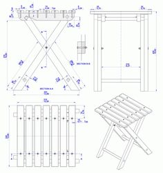 PDF Stool Fold Woodworking Plans