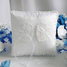 PODUSZKA pod obrączki Białe Serca  #slub #wesele #sklepslubny #dekoracje #slubnezakupy