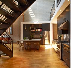 Downtown Loft House by White Crane Construction