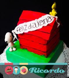 #MiercolesDeGaleria  Snoopy y amigos  Un divertido pastel de esta entrañable caricatura.  #catalogoRICORDO  #pastel #fondant #fondantcake #snoopy #woodstock   Snoopy Snoopy & Charlie Brown Peanuts , La Película