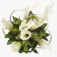 2 piece Collection - Wedding Flowers - Calla Lily / Star of Bethlehem - White / Green - Bridesign.com
