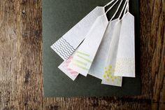Kimono Washi Tag {Mixed Colours}