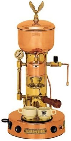 Elektra ART.SX Microcasa Semiautomatica Commercial Espresso Machine - Copper and Brass * Click image for more details.