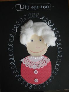 sugarlily cookie company: 100th day of school self-portraits