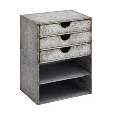 Fascinating Stylish Metal Shelf with Drawers