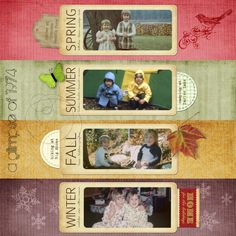 Multi photo season scrapbook layout