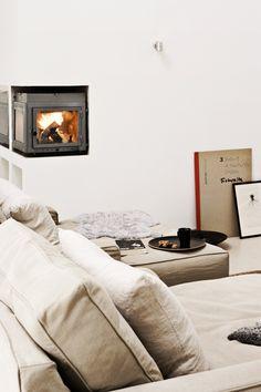 corner fireplace | via my scandinavian home blog