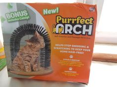 New Purrfect Arch Cat Scratcher Groomer Massager #PurrfectARCH